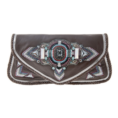 Alvina Clutch Chocolate Tasche