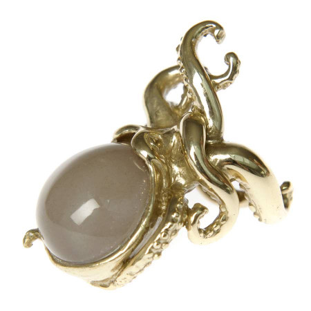 Octopus Ring with Moonstone
