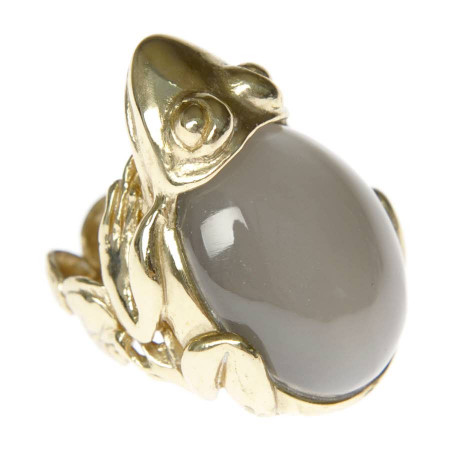 Frog Ring with Moonstone
