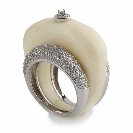 Imperial Ivory Resin Ring
