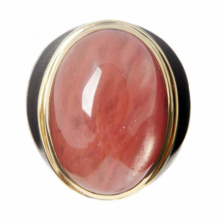 Cherry Quartz Small Ring