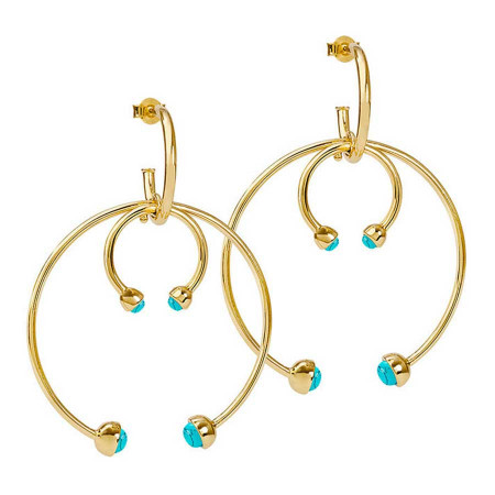 Double Earhoops Turquoise Ohrstecker
