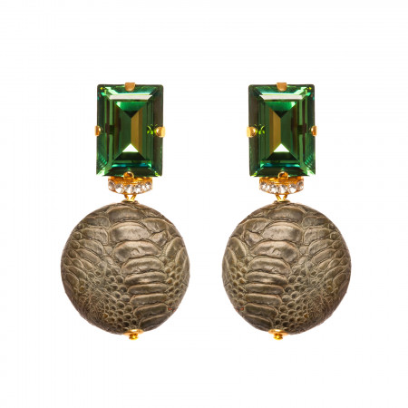 Emerald Snake Octagon Stecker
