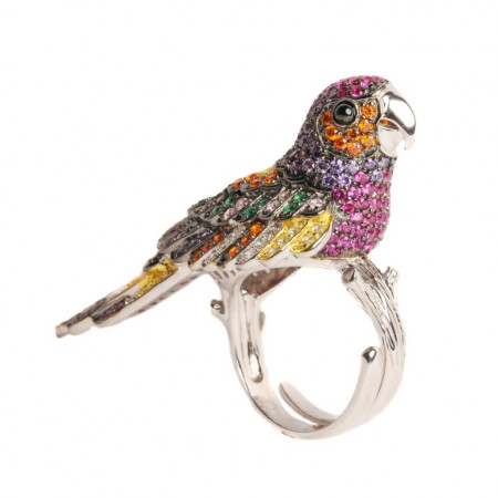 Perroquet Rubin Multi Ring