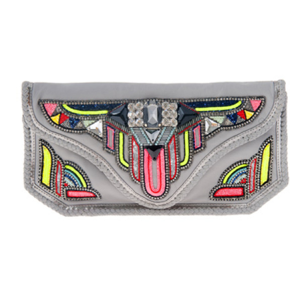 Bahia Clutch Grey Tasche