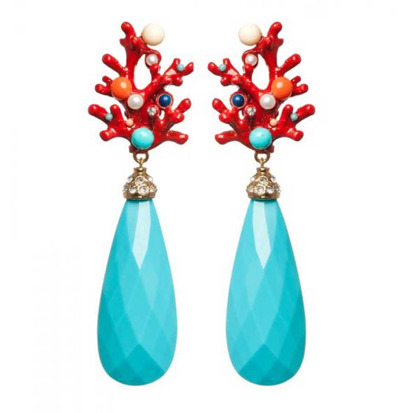 Coral Candy Turquoise Stecker